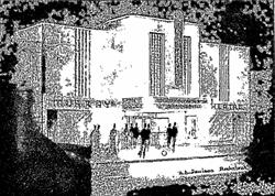 A drawing of the Murray Theatre by its architect, A. B. Paulson - , Utah