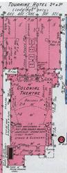 The Colonial Theatre on a 1911 Sanborn fire insurance map.