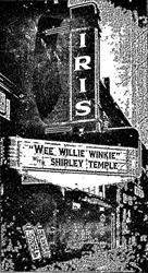 The new marquee of the Iris Theatre in 1937.