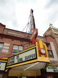 <span style='font-style: italic;'>Thor</span>, <span style='font-style: italic;'>Prom</span>, and <span style='font-style: italic;'>Soul Surfer</span> on the marquee of the Capitol Theatre. - , Utah