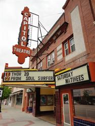 A side view of the marquee.