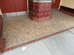 The tile floor of the entrance. - , Utah