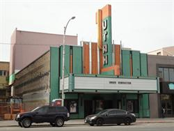 The front of the Utah Theatre, from across the streeet. - , Utah