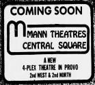 """Coming Soon.  Mann Theatres Central Square.  A new 4-plex theatre in Provo. 2nd West & 2nd North."" - , Utah"
