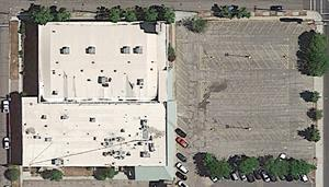 The last aerial photo of the Central Square theater on Google Earth before the building was demolished. - , Utah