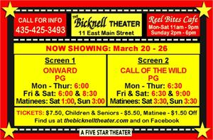<em>Onward </em>and <em>Call of the Wild</em> were scheduled for the week of 20 March 2020, before the theater closed because of COVID-19. - , Utah