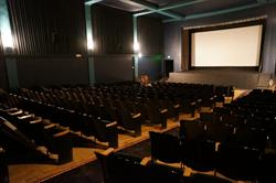 The auditorium, from the back right corner.