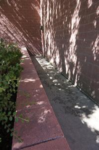 A retaining wall along the exit from Theater 12. - , Utah