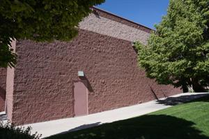 The exit door for Theater 10, at the west end of the south exterior wall. - , Utah