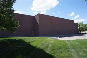 The east exterior wall, with the two largest auditoriums, 6 and 7, in the center. - , Utah