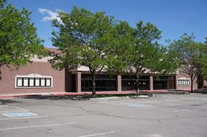 The entrance, with sets of six poster cases on either side. - , Utah
