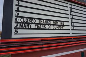 A final message on the attraction board:  'Closed.  Thanks for the many years of support.'