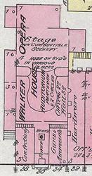 The Walker Opera House on a 1884 Sanborn fire insurance map. - , Utah