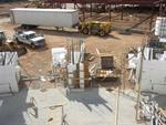 The entrance doors to the lobby begin to take shape. - , Utah