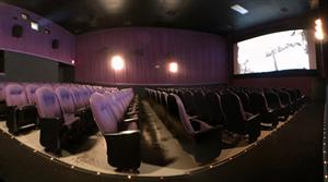 A flat panorama of Theater 3, from the right aisle. - , Utah