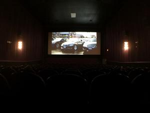 Theater 3, looking towards the screen from the center of the back row. - , Utah