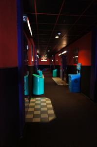 The main hallway turns left at the end to provide access to an addition with theaters 8 and 9. - , Utah