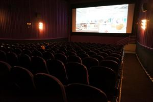The front exit for Theater 5 has stairs in front of the screen.</p> <p> - , Utah