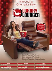 Movies 10 is one of ten Cinemark theaters to be upgraded with Luxury Loungers.  The other nine are all first-run theaters. - , Utah