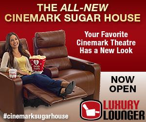 """A """"Now Open"""" graphic for the All-New Cinemark Sugar House, from the theaters' web site. - , Utah"""