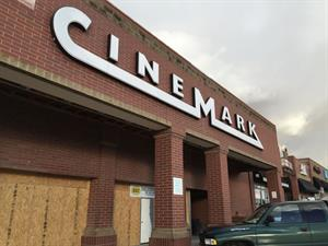 The Cinemark logo replaces the Movies 10 atttaction board at the front of the theater. - , Utah