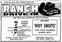 Advertisement for the Rance Drive-In. - , Utah