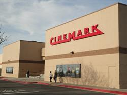 The front facade of the Cinemark Bountiful 8.