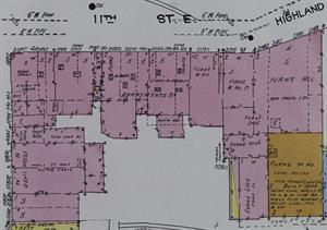 The block of stores at 2100 South 1100 East in 1949. - , Utah