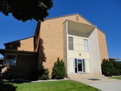 Connected to the north side of the Blanding Ward meeting house is the LDS Church Blanding Facility Management, with a Family History Center in the rear.