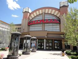 The entrance of the Cinemark Farmington at Station Park, on open day.