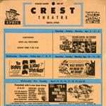A handbill for the Crest Theatre. - , Utah