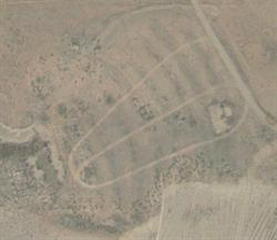 The screen tower and the outline of the projection building are clearly seen in this 2006 aerial photo.