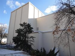 The north exterior wall of the auditorium. - , Utah