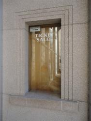 A ticket sales window on the right side of the original entrance. - , Utah