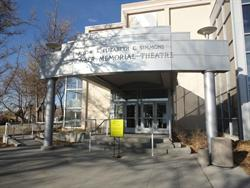 A covered entrance near a drop-off area at the southwest corner of the theater. - , Utah