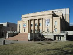 Front of Kingsbury Hall, with the ticket office in the lower right.