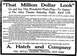 Newspaper ad for 'That Million Dollar Look' at the Alice Theatre on 11 April 1914 - , Utah