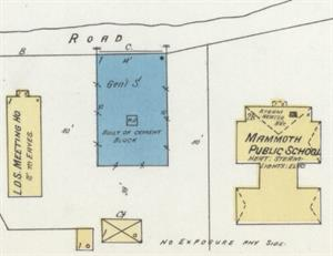 The 1908 Sanborn map shows a general store, built of cement bock, at the theater's location. It appears the original building was divided to form the theater and a store, with an additional 15-foot store added on the side closest the LDS meetinghouse. - , Utah