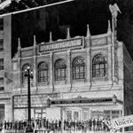 A drawing of the exterior of the American Theatre. - , Utah