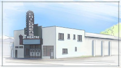 Concept art for the remodeled exterior of the Avalon Theatre.