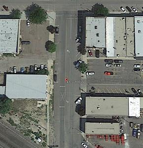 The former location of Thomas Hall is now a parking lot on the right side of 100 West. - , Utah