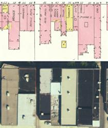 A comparison of 1930 Sanborn map to a current satellite image suggests that the Cinema 3 Theatre was formed by combining Gem Theatre with an office to the west and harness and bicycle shops to the east.