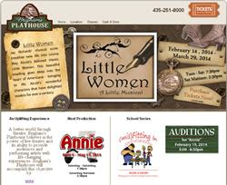 'Little Women, A Little Musical', on the Brigham's Playhouse web site in February 2014.