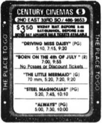 'The Little Mermaid', in 70mm in the Century 24 auditorium. - , Utah
