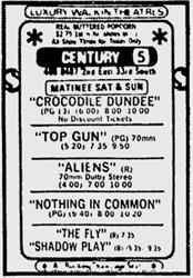 Century has two films playing in 70mm, after Top Guns rolls over from the Villa Theatre and joins Aliens at Century. - , Utah