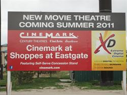 A sign for the Cinemark at Shoppes at Eastgate. - , Utah