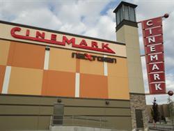 The Cinemark and NextGen logos on the west exterior wall. - , Utah