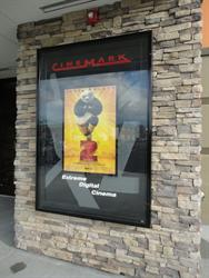A large poster case for the film playing in XD, Extreme Digital Cinema. - , Utah