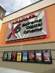 A large sign for XD Extreme Digital Cinema, above eight poster cases. - , Utah