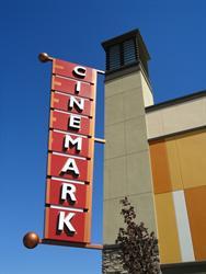 A Cinemark banner sign on the southwest tower. - , Utah